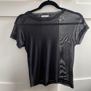 LA hearts mesh t-shirt